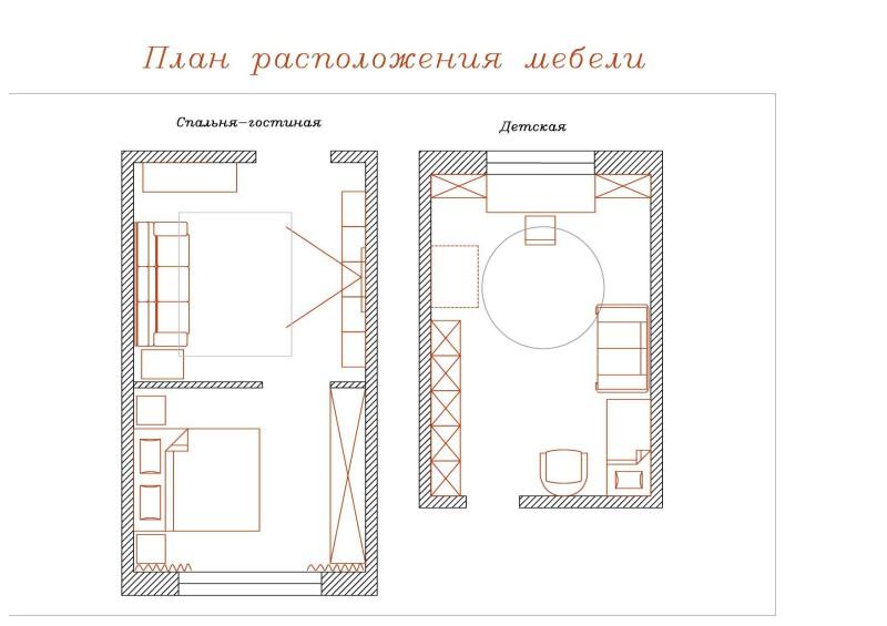 0 План расстановки мебели 2