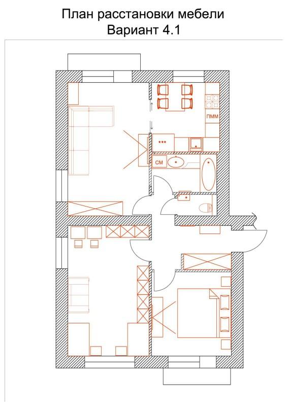 1 План расстановки мебели 4-1