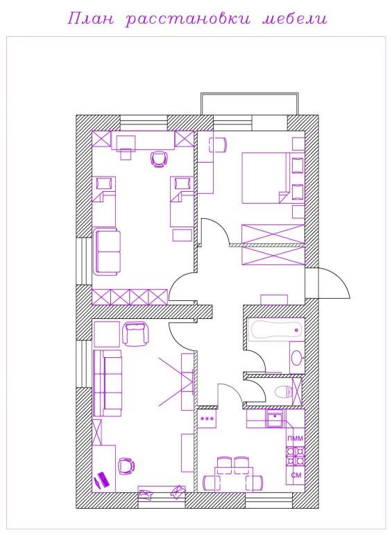 1 План расстановки мебели 5
