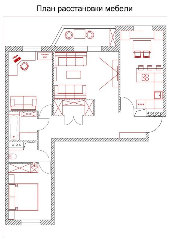 1. План расстановки мебели