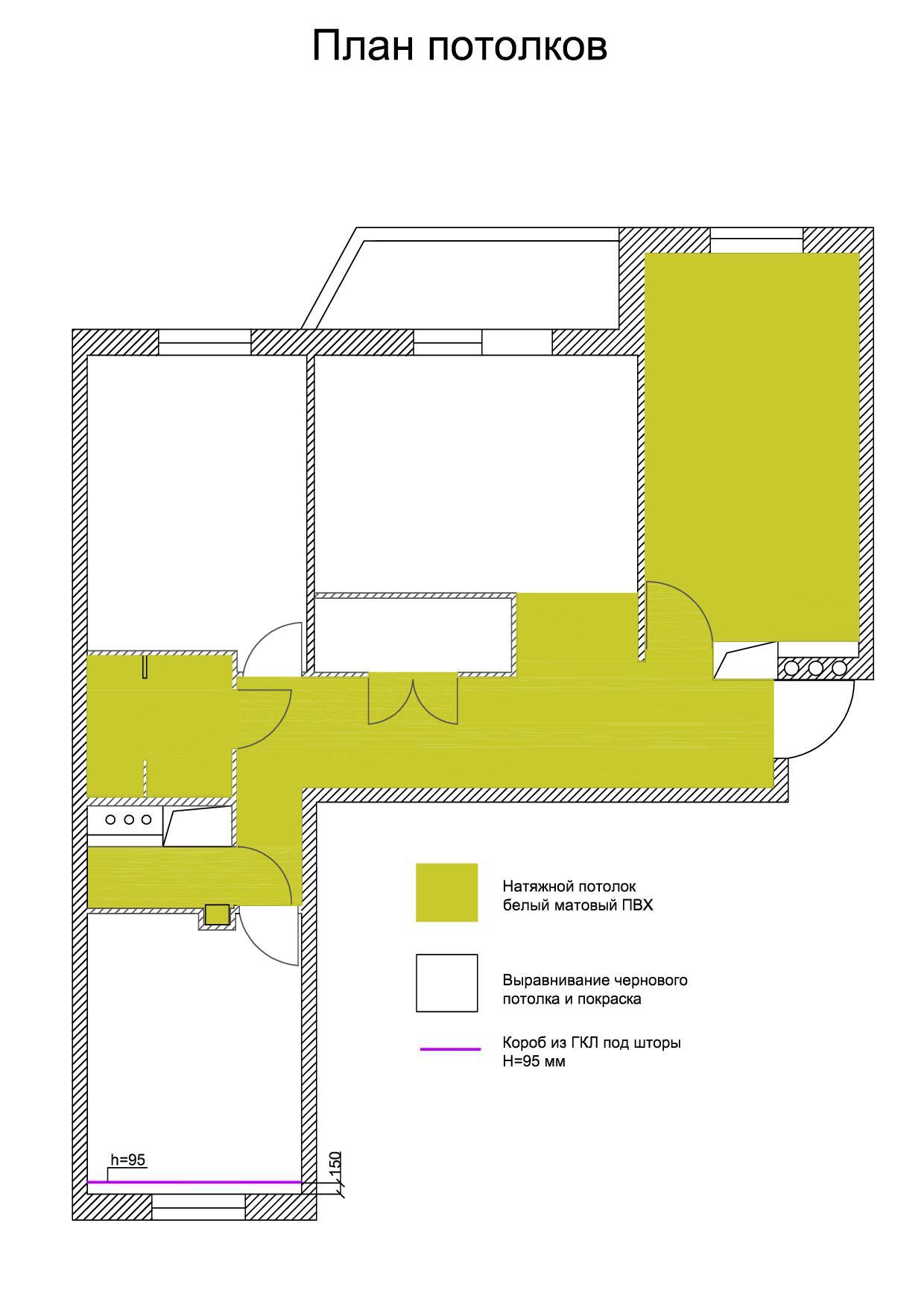 10. План потолков